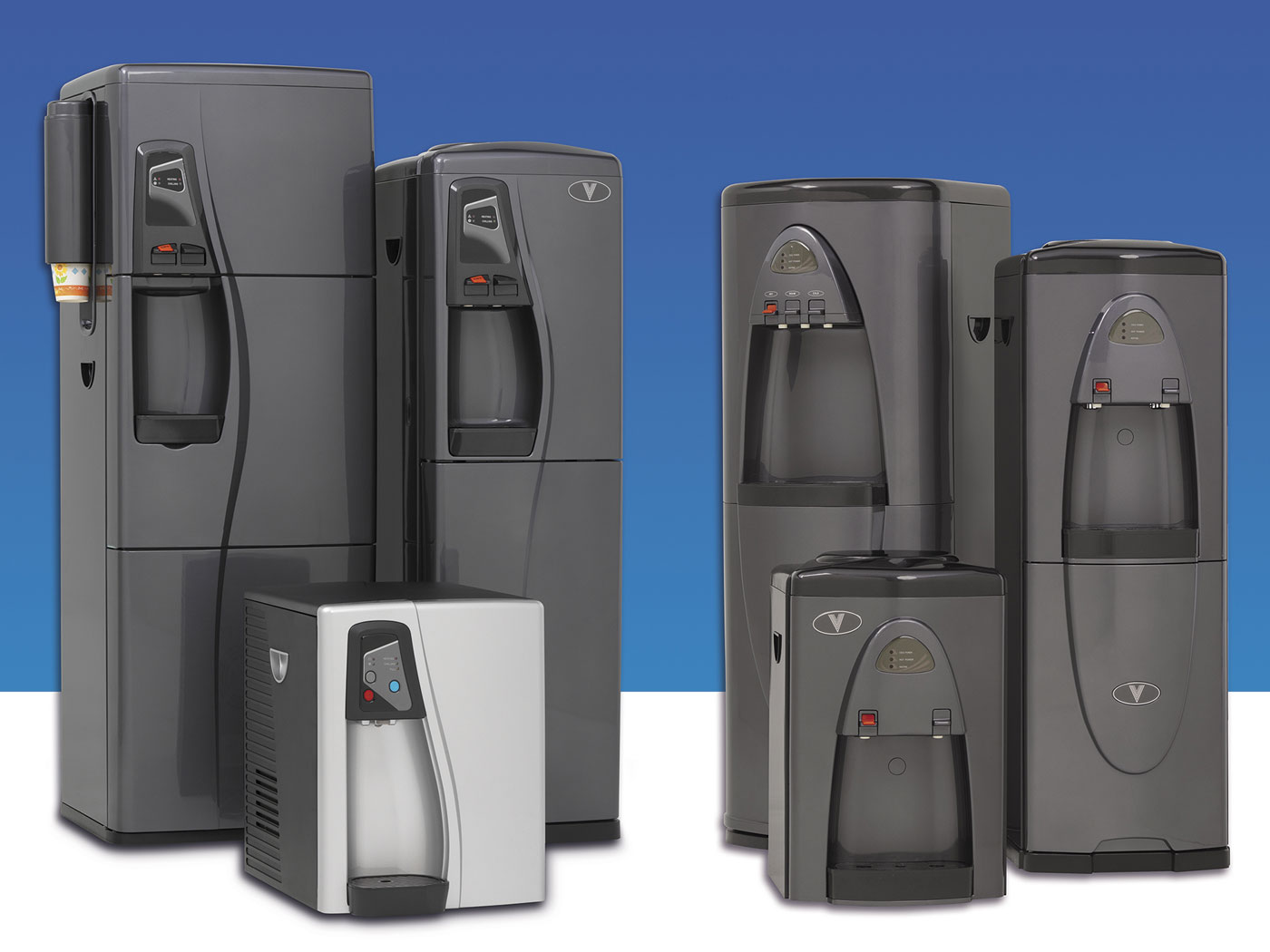 Bottle-less water cooler group