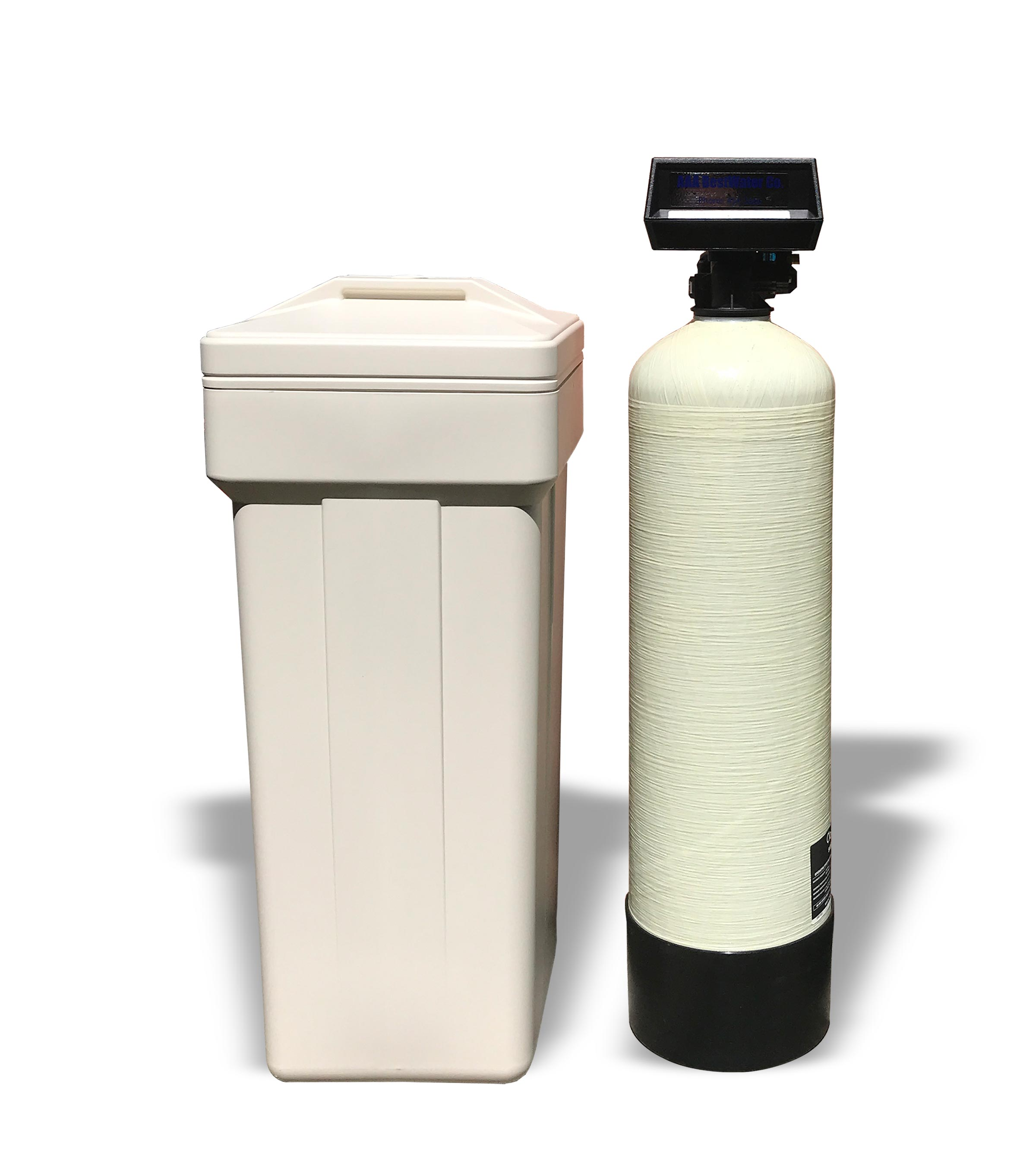 water softener brine and treatment tanks
